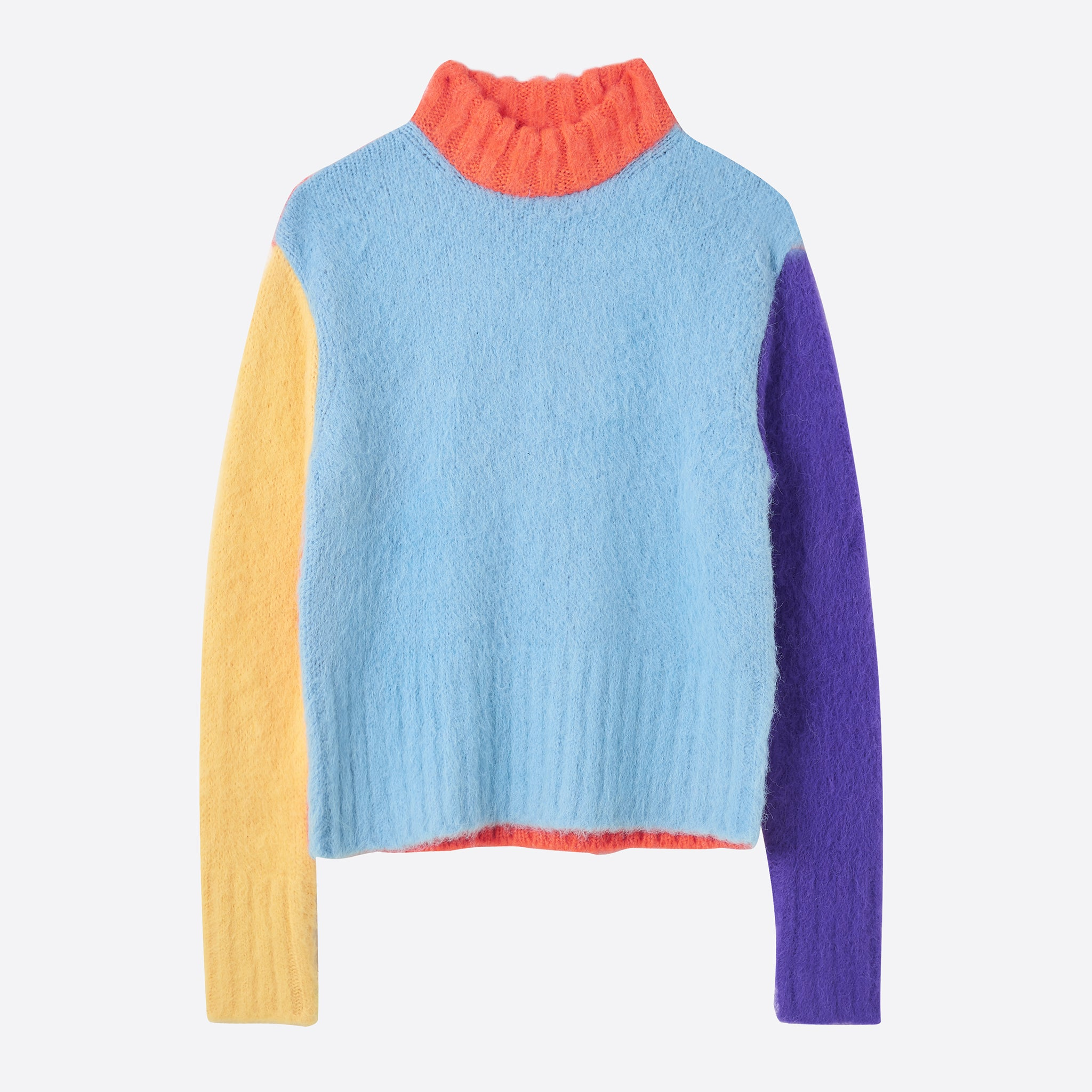 Neul Colour Puzzles Brushed Sweater in Sky Blue