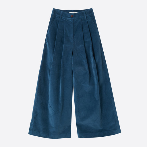 Neul 2-Tucks Wide Pant in Moroccan Blue