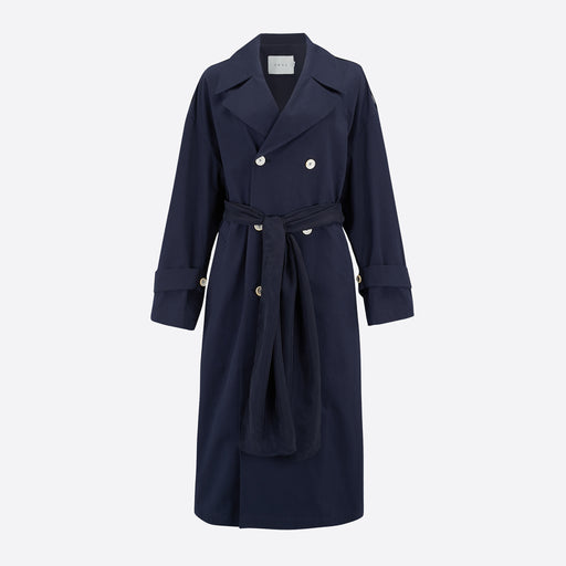 Neul Daddy Trench Coat in Dark Navy