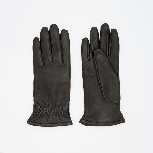 Norse Projects Asa Leather Gloves in Black