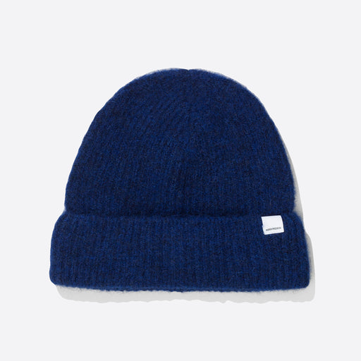 Norse Projects Marta Brushed Beanie in Ultra Marine