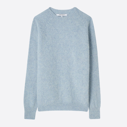 Norse Projects Hillevi Lambswool Jumper in Pale Blue