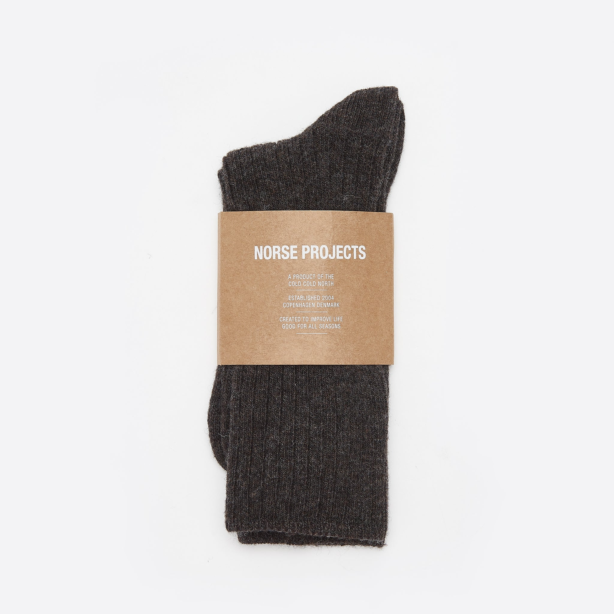 Norse Projects Siggy Lambswool Socks in Camel