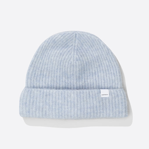 Norse Projects Marta Brushed Beanie in Pale Blue