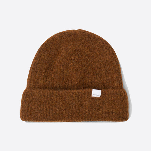 Norse Projects Marta Brushed Beanie in Burnt Sienna