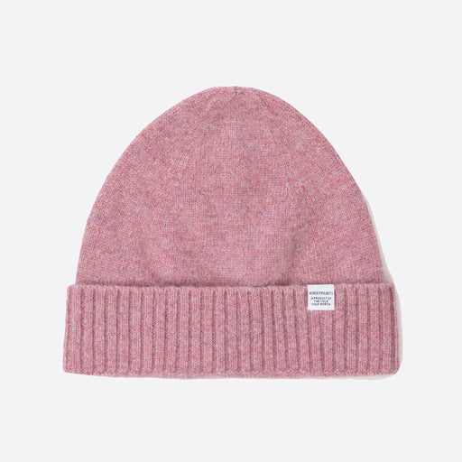Norse Projects Katinka Brushed Lambswool Beanie in Rose Quartz