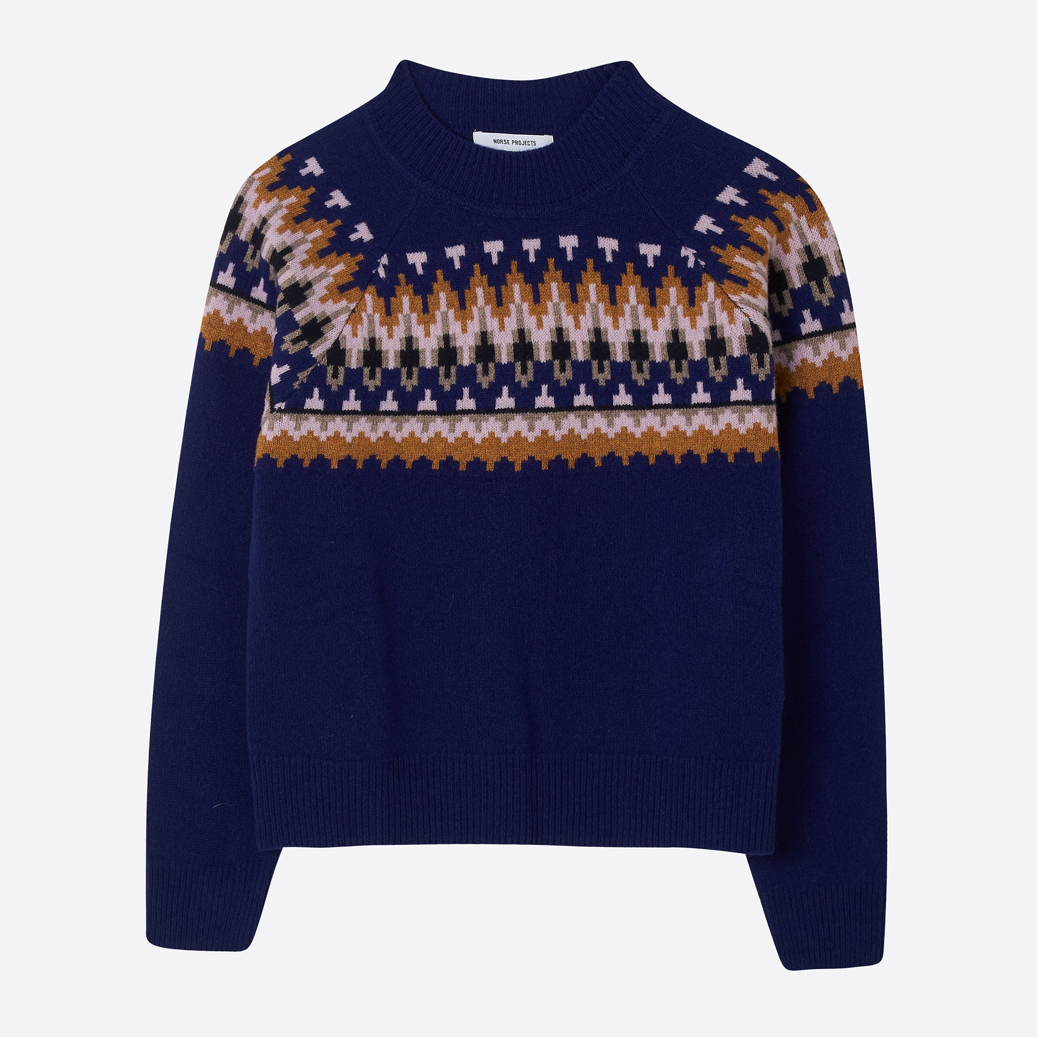 Norse Projects Ragna Fairisle in Vintage Indigo