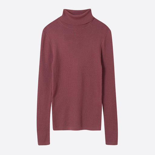 Norse Projects Siri Merino Roll Neck in Rose Quartz