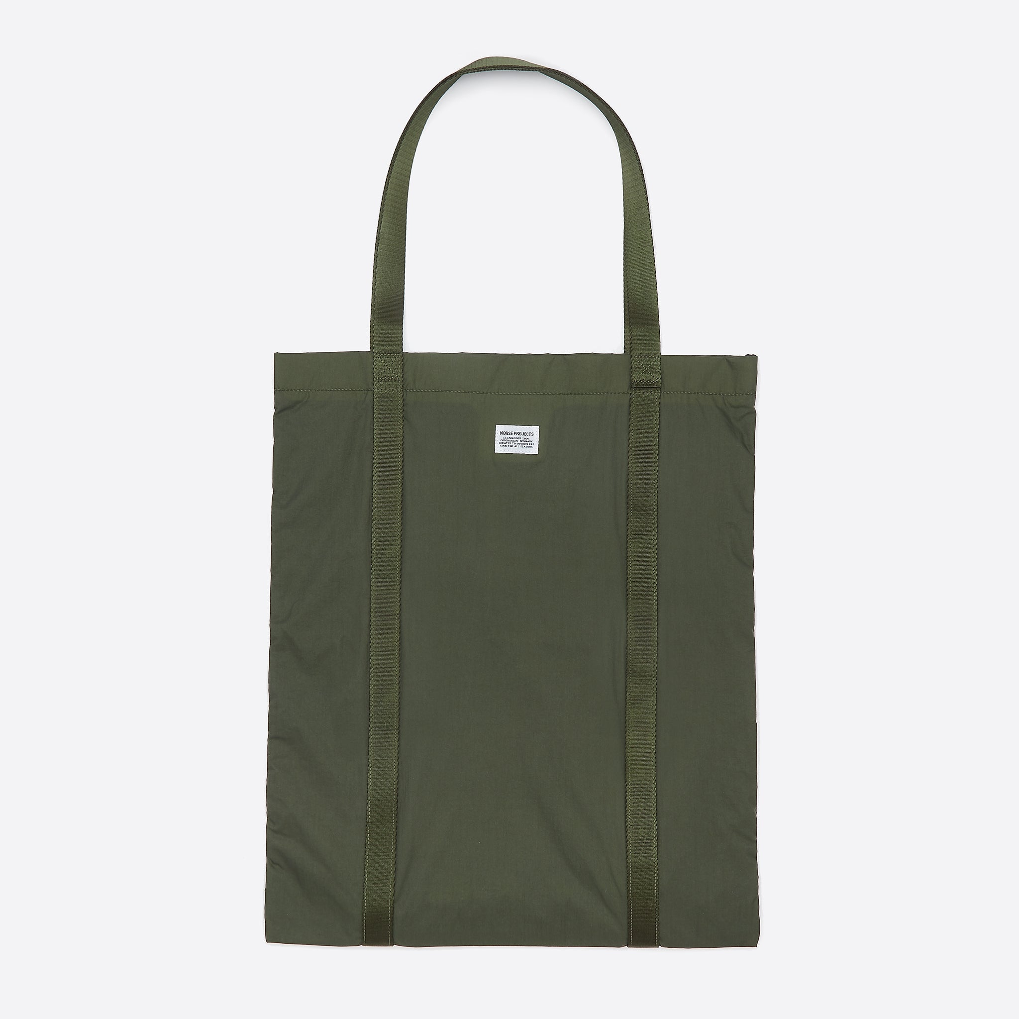 Norse Projects Ripstop Tote in Dried Olive