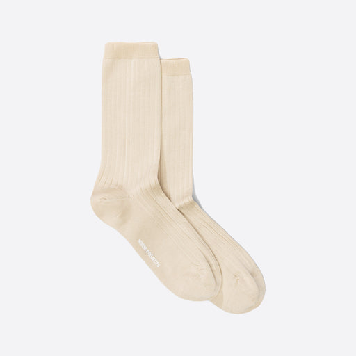 Norse Projects Bennedikte Classic Rib Socks in Ecru