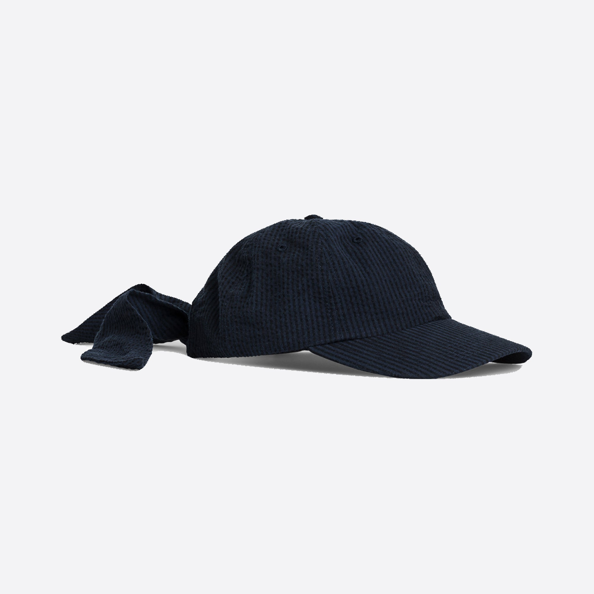 Norse Projects Seersucker Sports Cap in Dark Navy — Our Daily Edit 7712a9d2187