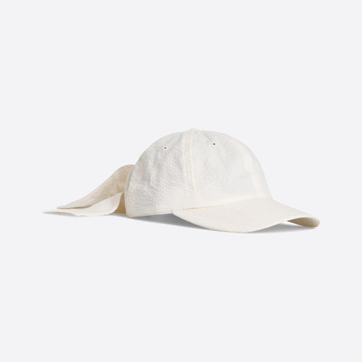 Norse Projects Seersucker Sports Cap in Ecru