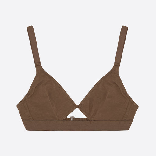 The Nude Label Cut Out Bra in Chocolate