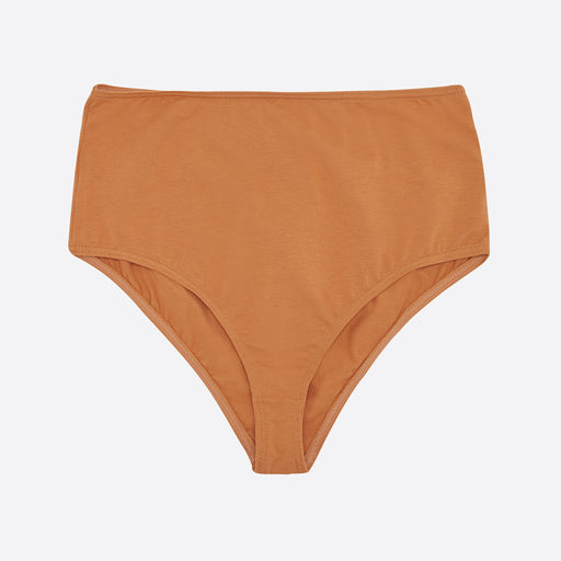 The Nude Label High Waisted Brief In Pumpkin