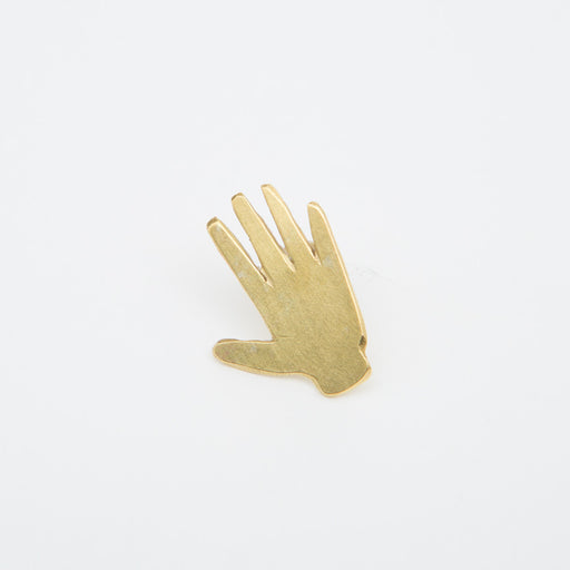 Polly Collins Hand Pin in Brass