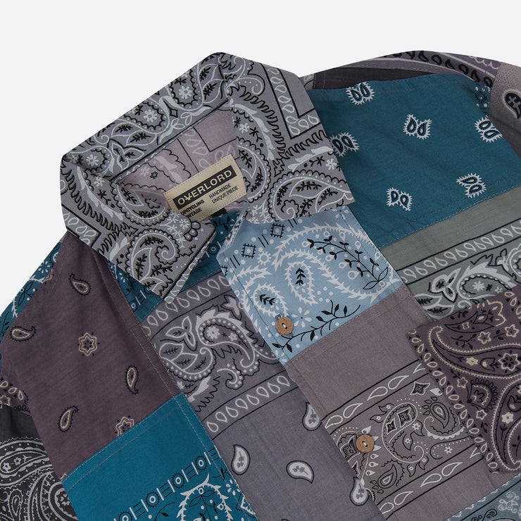 OVERLORD Patchwork Bandana Shirt in Grey