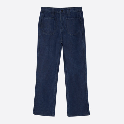 Older Brother Denim Flare Jeans in Dark Wash Denim