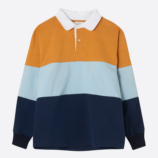 Older Brother Rugby Shirt in Saffron & Indigo