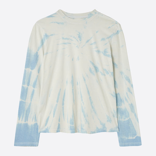 Older Brother Long Sleeve Tee in Tie Dye Sky Indigo