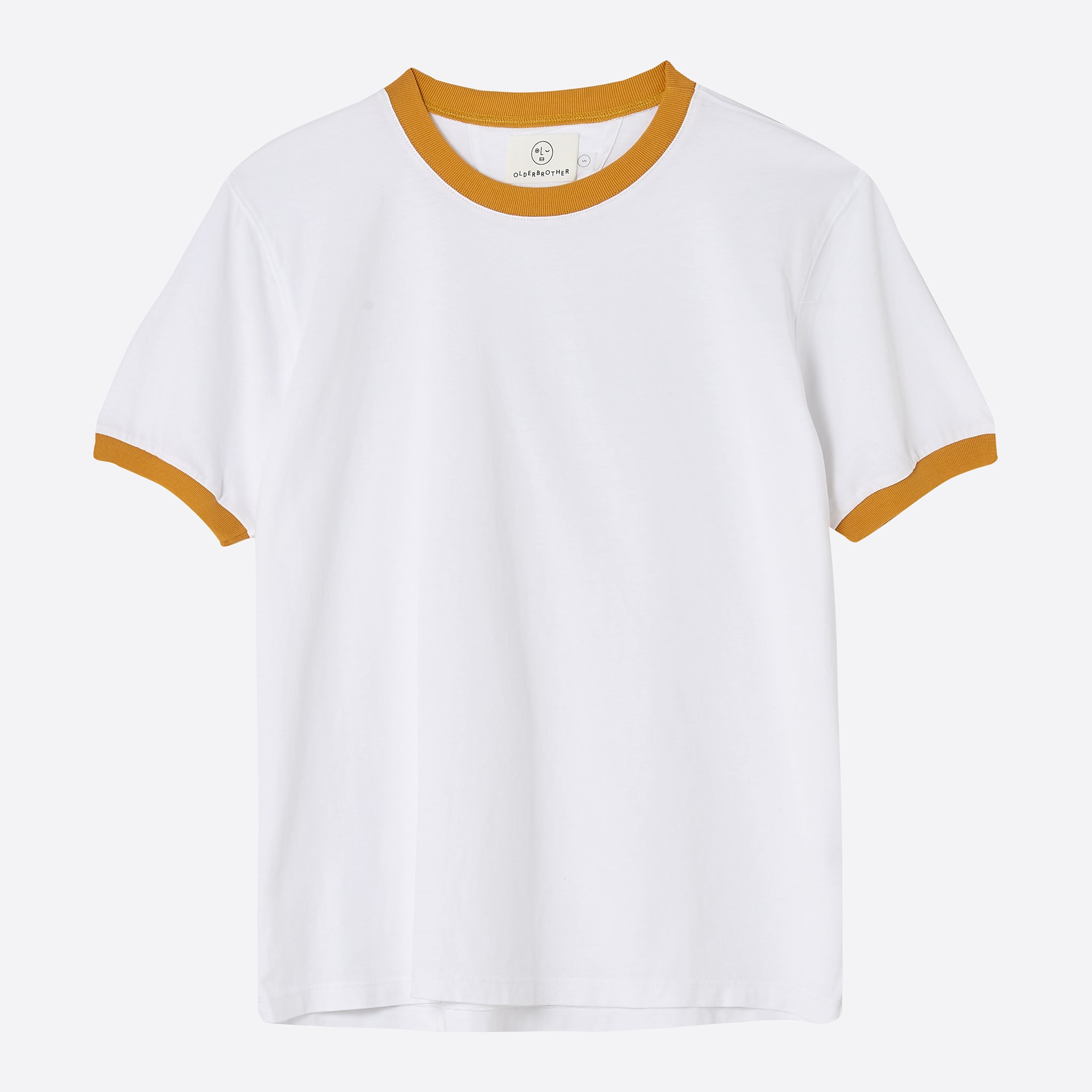 Older Brother Ringer Tee in Saffron