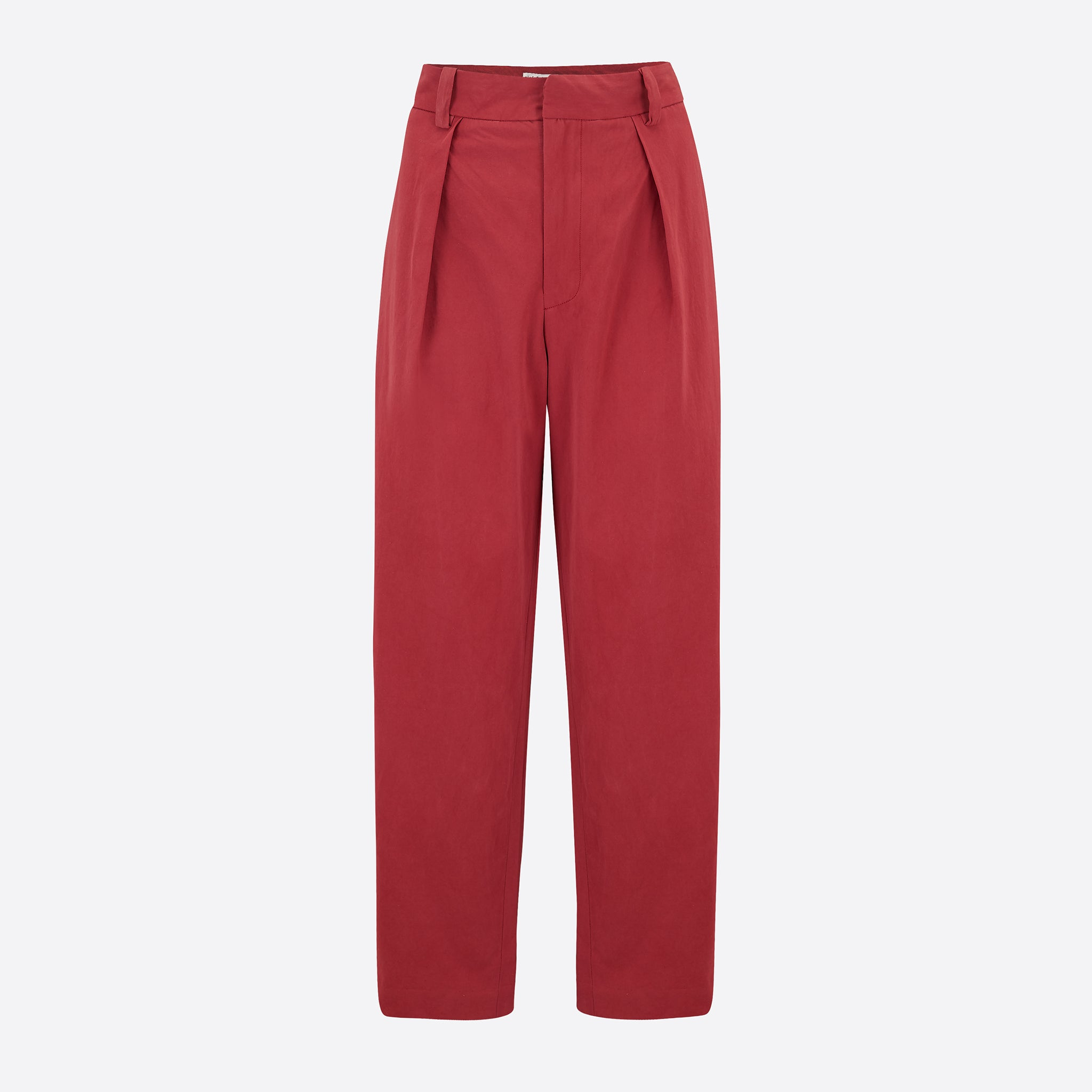 Older Brother Pleated Trouser in Hibiscus Punch