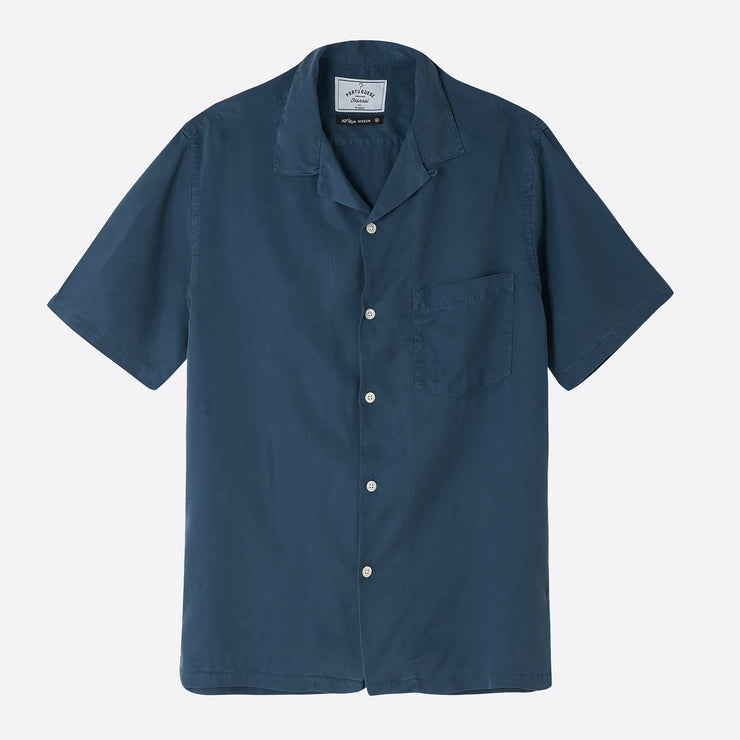 Portuguese Flannel Dogtown Shirt in Blue