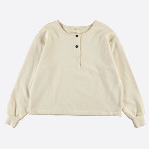 Girls of Dust Papillion Sweater in American Fleece Natural