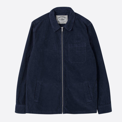 Portuguese Flannel Fecho Jacket in Navy Corduroy