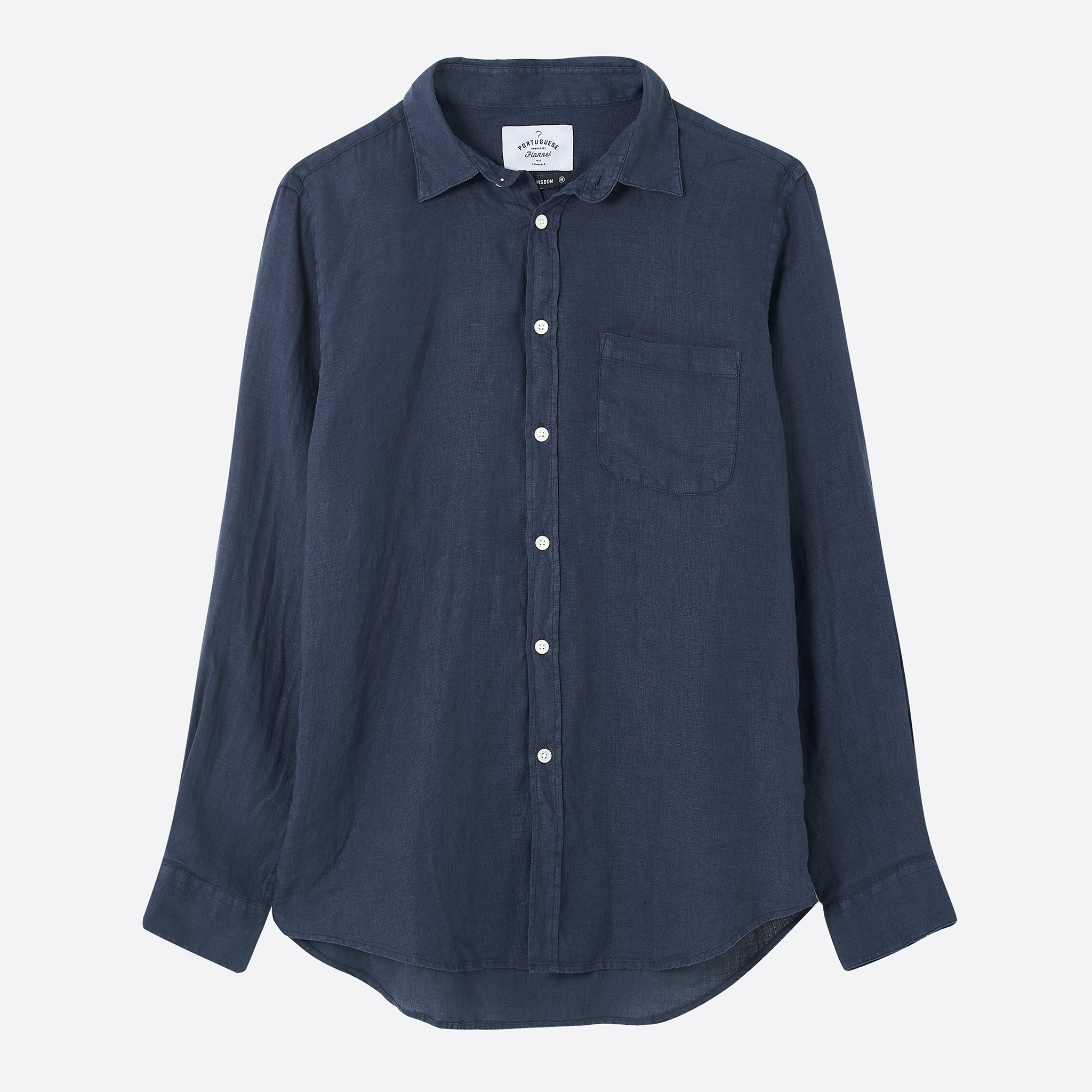 Portuguese Flannel Linen Shirt in Navy