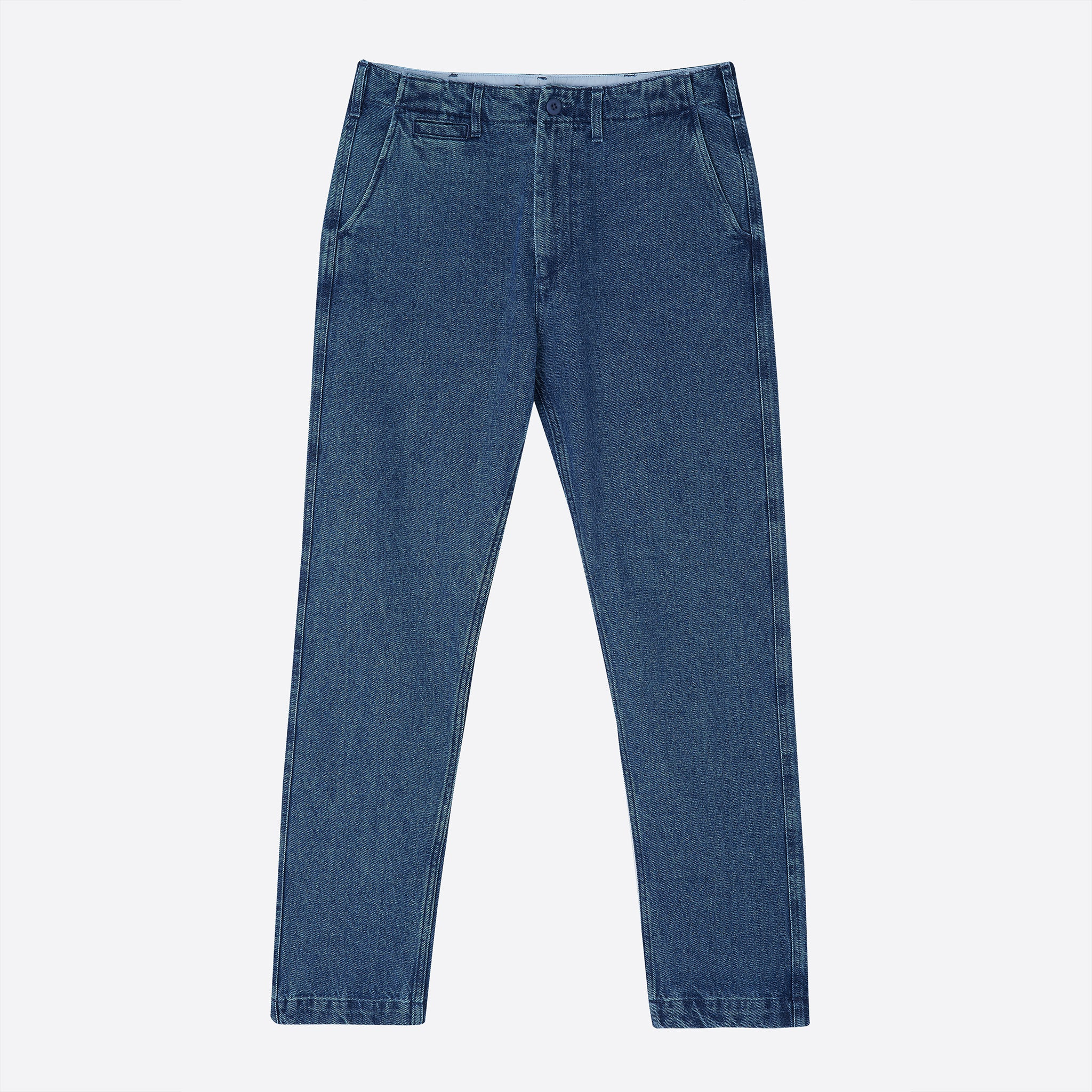 Portuguese Flannel Denim Trousers in Blue