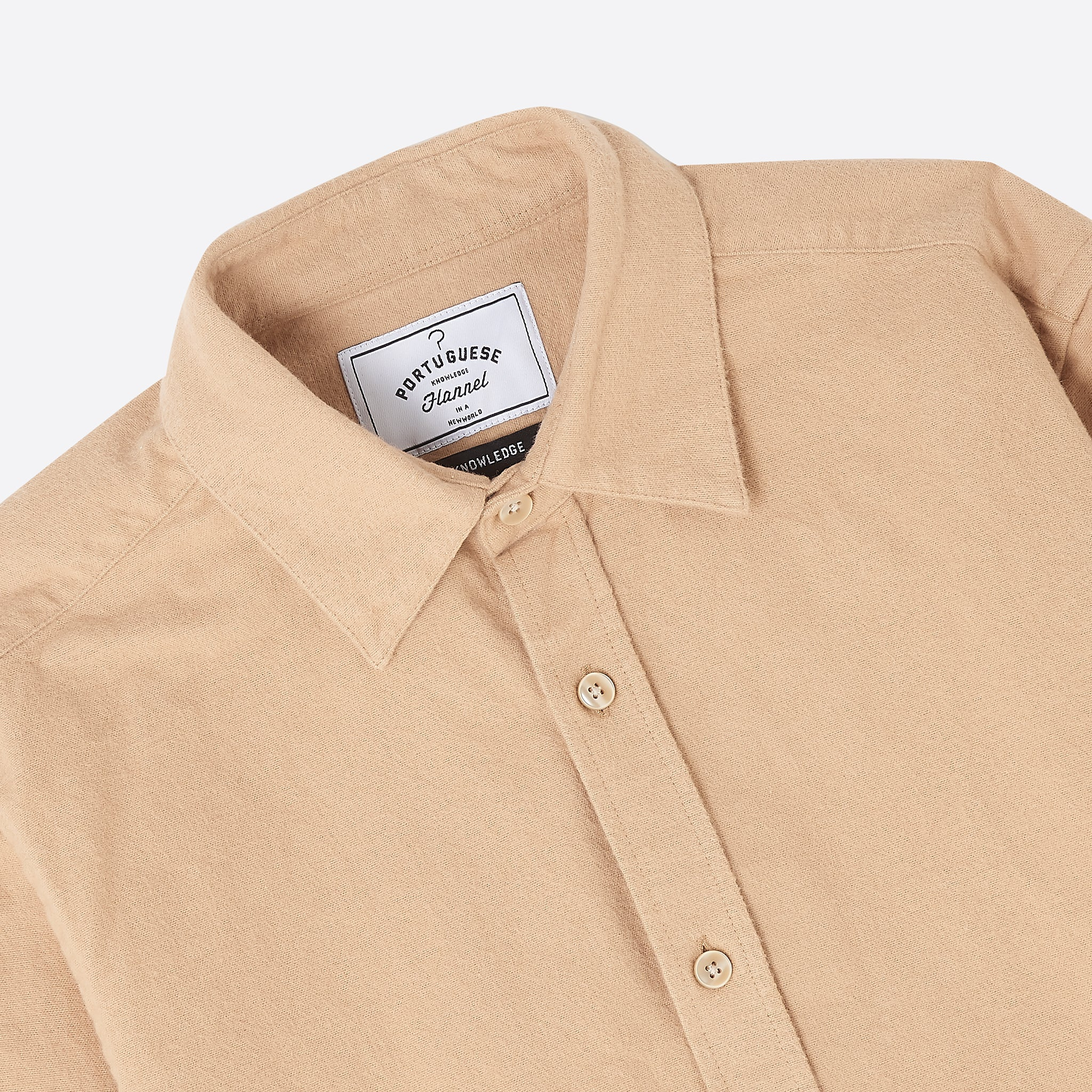 Portuguese Flannel Chemy Shirt in Cream