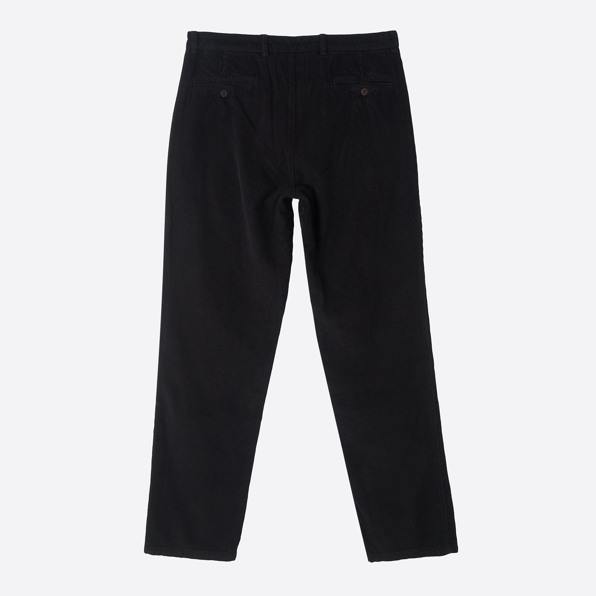 Portuguese Flannel Corduroy Trousers in Black