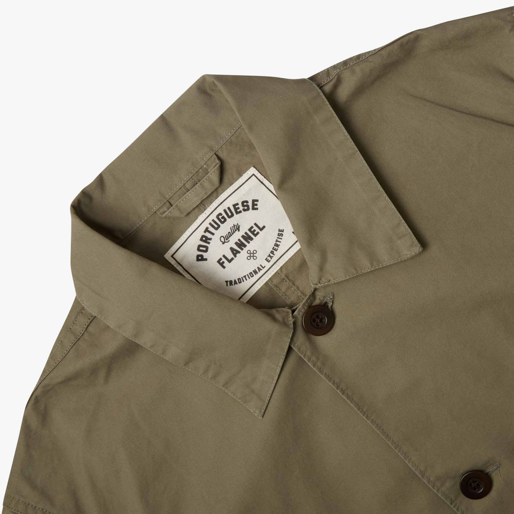 Portuguese Flannel Labura Overshirt in Olive