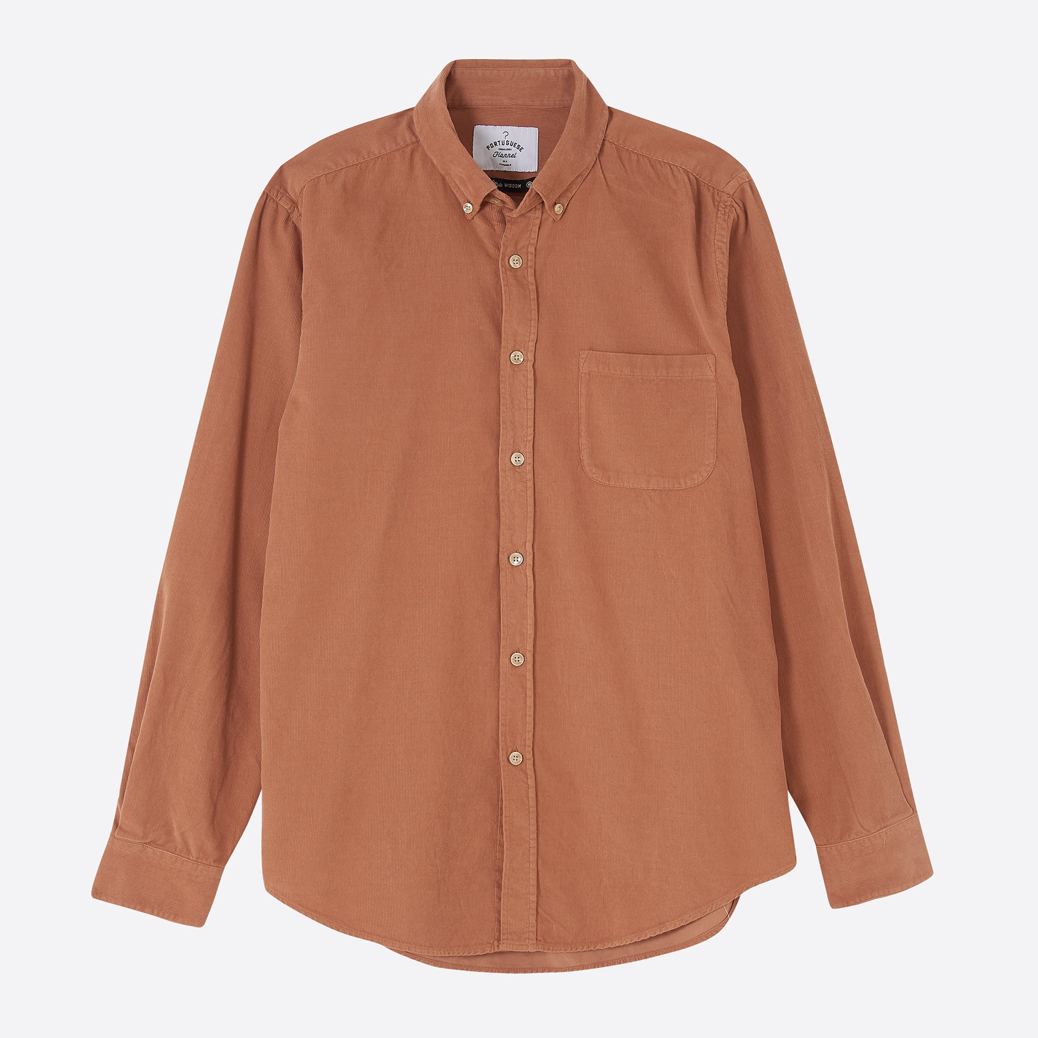 Portuguese Flannel Lobo Shirt in Brick