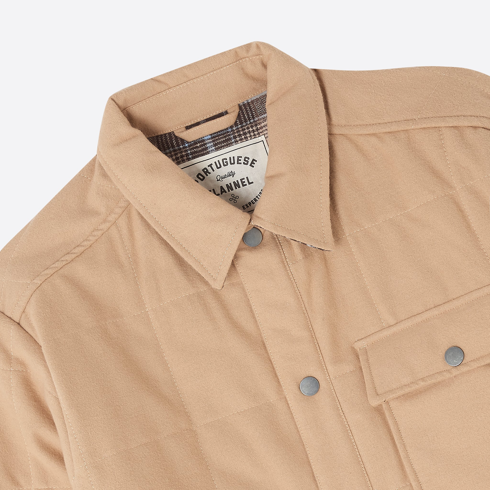 Portuguese Flannel Nevada Jacket in Latte