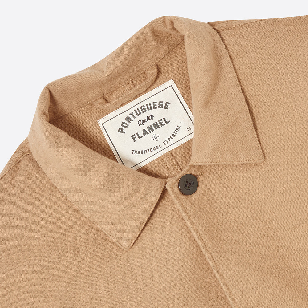 Portuguese Flannel Pinheiro Overshirt in Sand