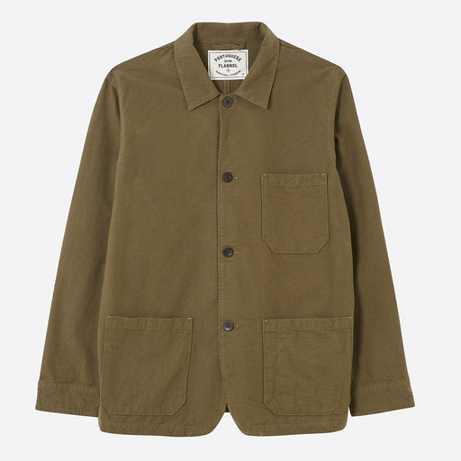 Portuguese Flannel Pinheiro Overshirt in Olive