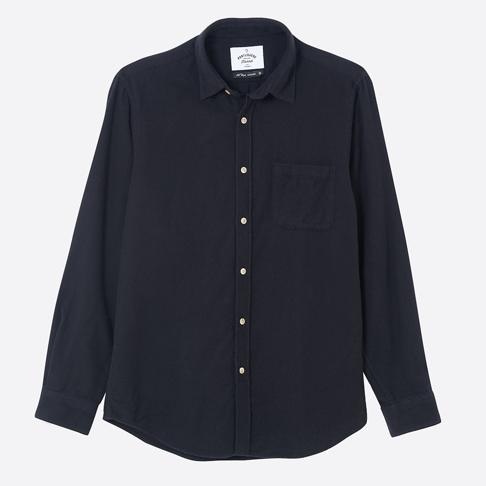 Portuguese Flannel Teca Shirt in Black