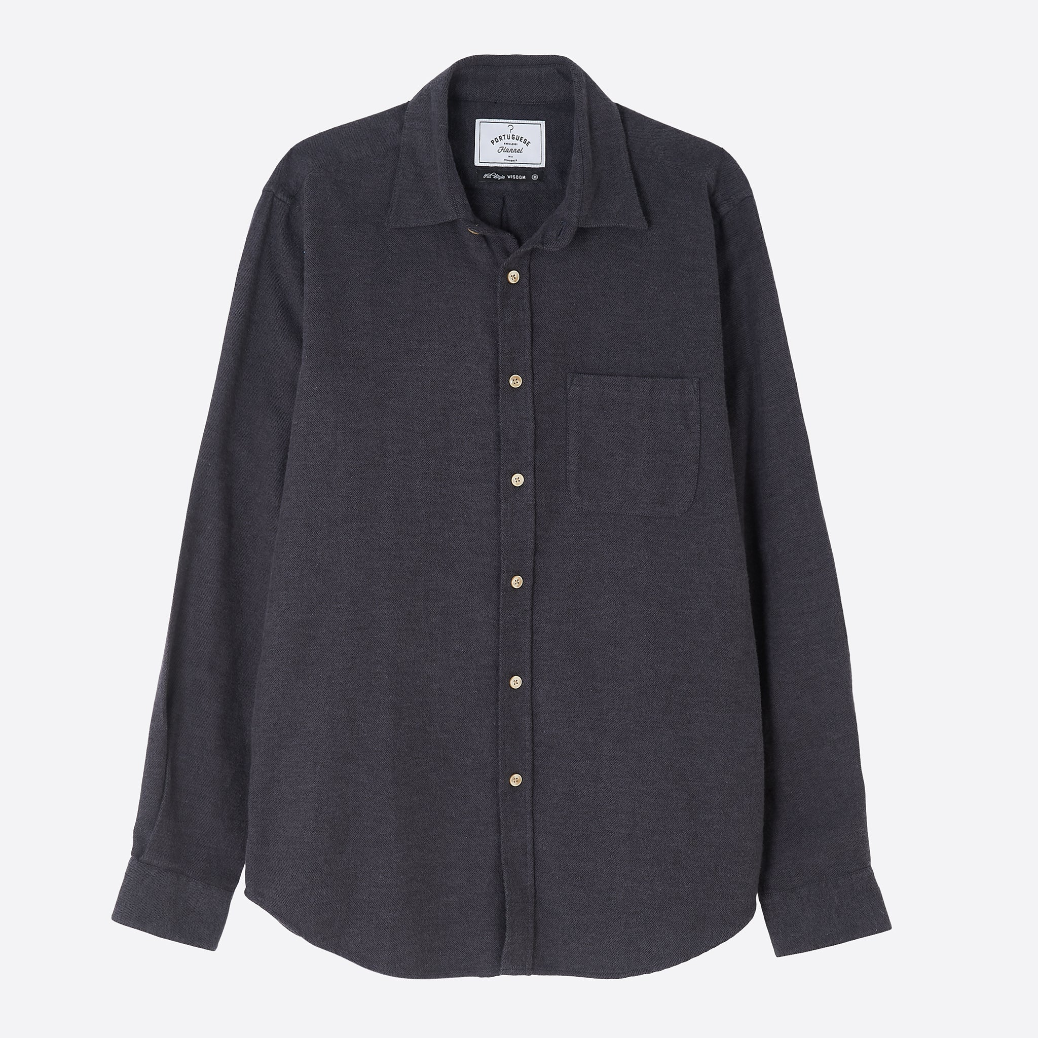 Portuguese Flannel Teca Shirt in Grey