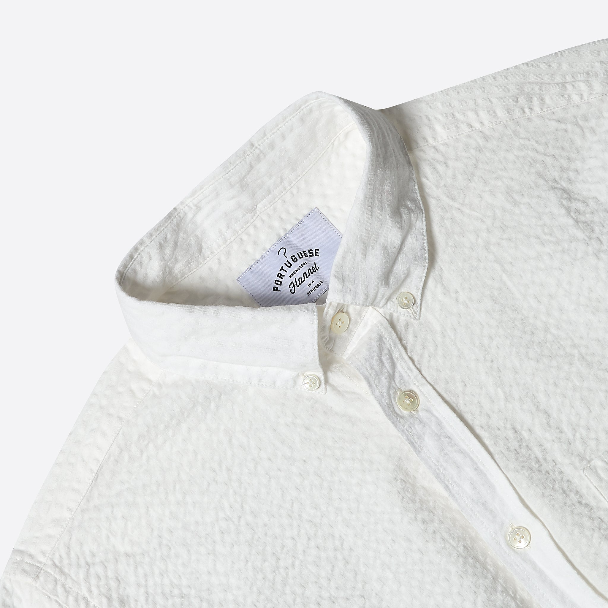 Portuguese Flannel Atlantico Shirt in White