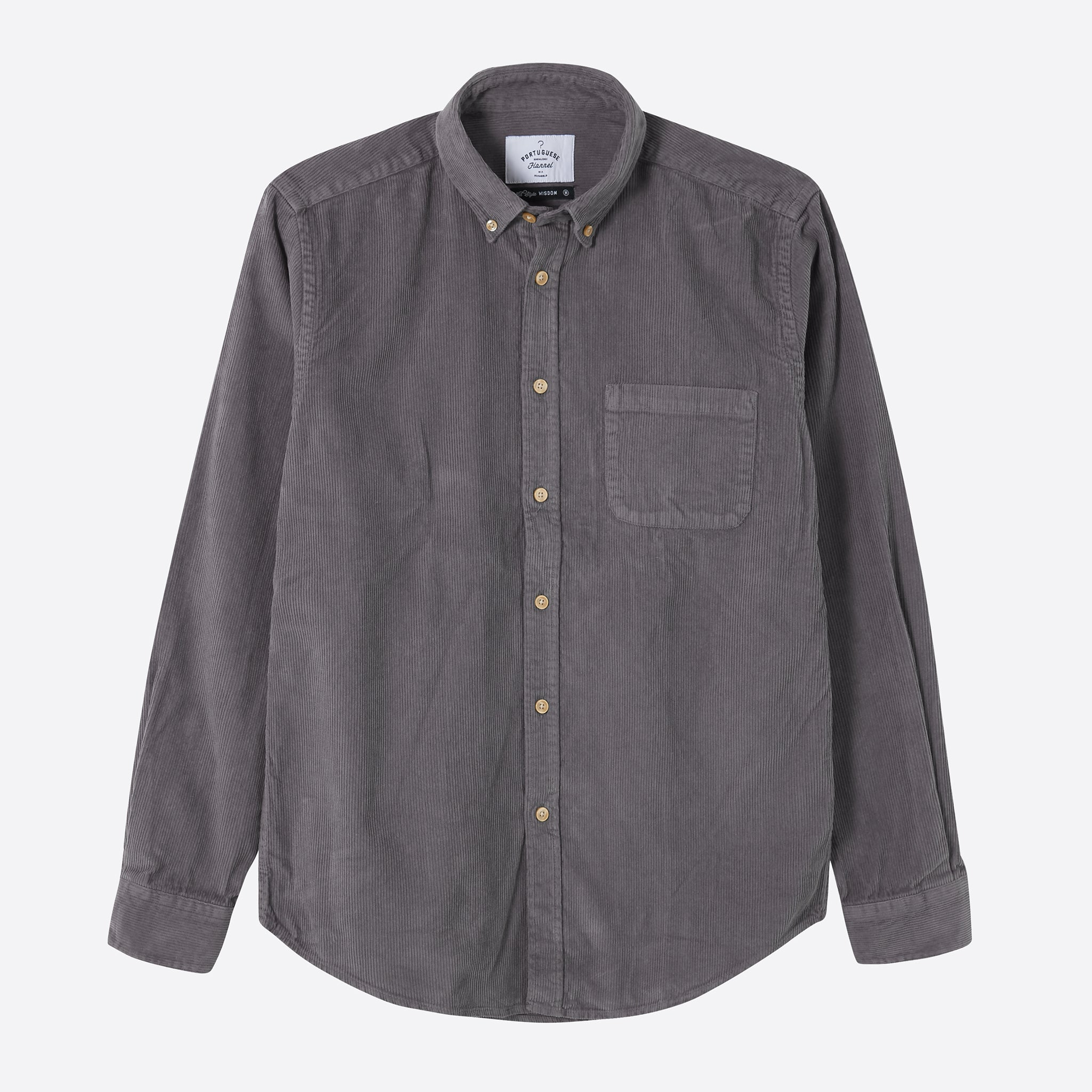 Portuguese Flannel Lobo Shirt in Grey