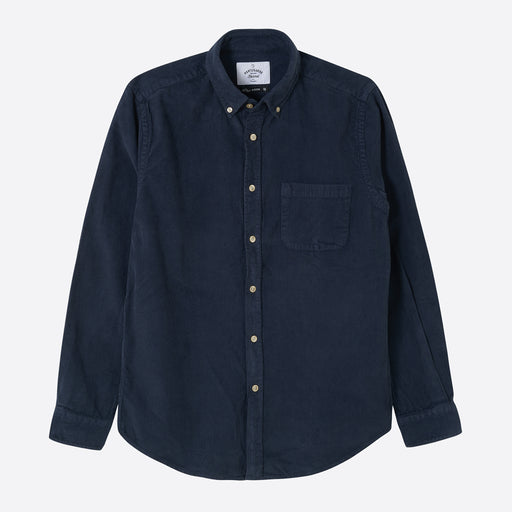 Portuguese Flannel Lobo Shirt in Navy