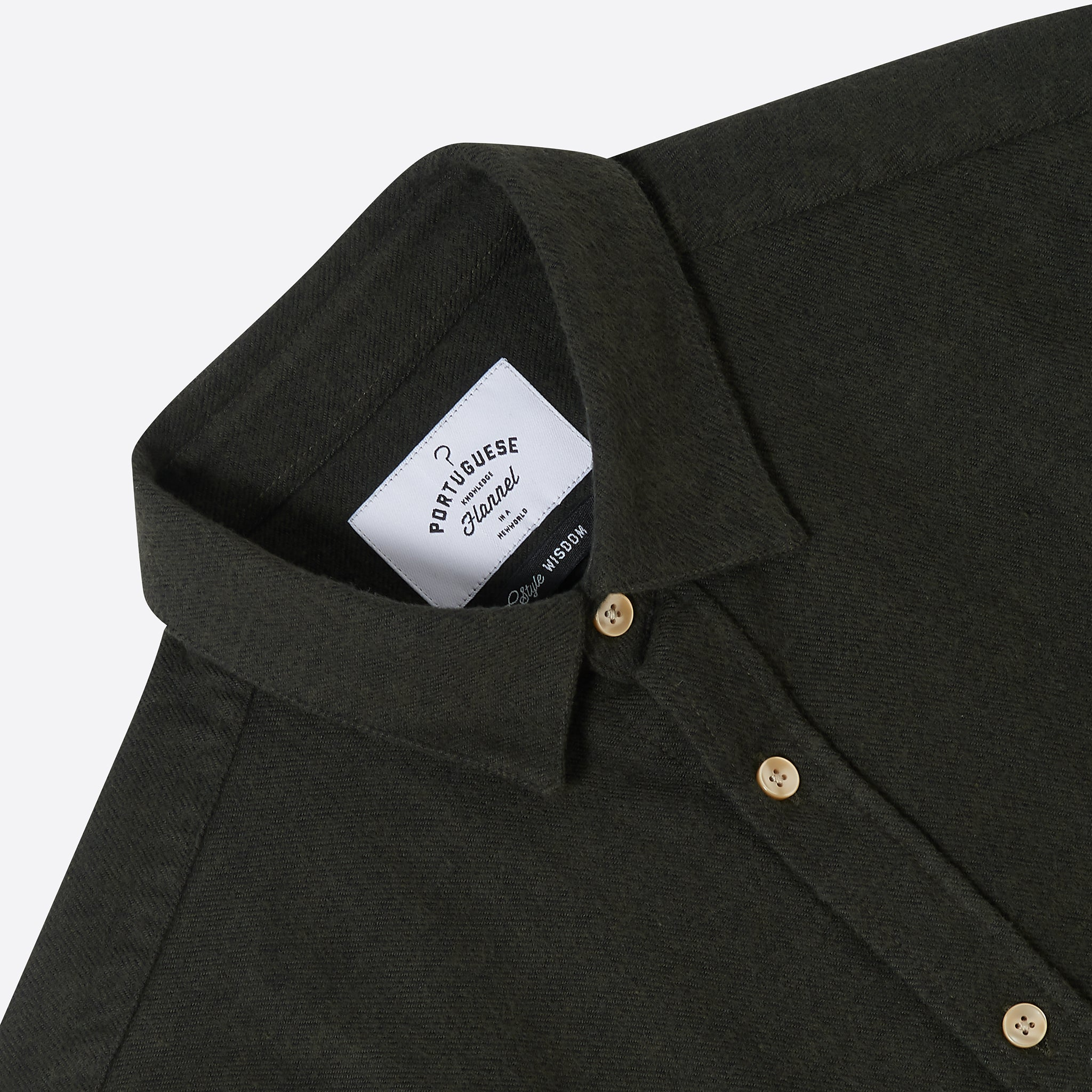 Portuguese Flannel Teca Shirt in Green