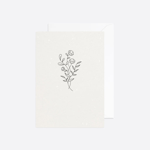 Reverie Studio Spring Flower Card in White