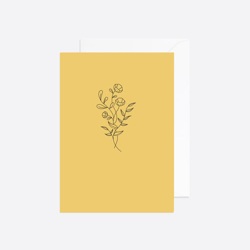 Reverie Studio Spring Flower Card in Yellow