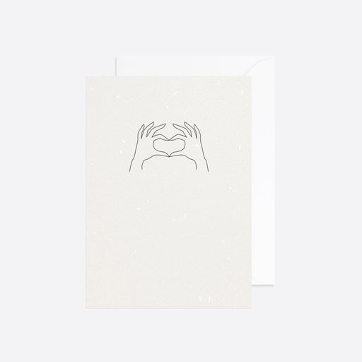 Reverie Studio Send Some Love Card in White