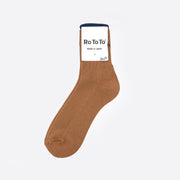 RoToTo Rib Pile Mid Socks 'Cool Max' in Light Brown