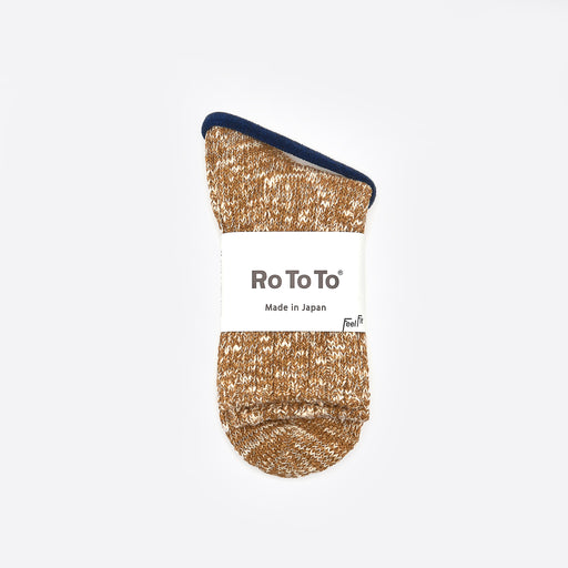 RoToTo Low Guage Slub Socks in Mustard