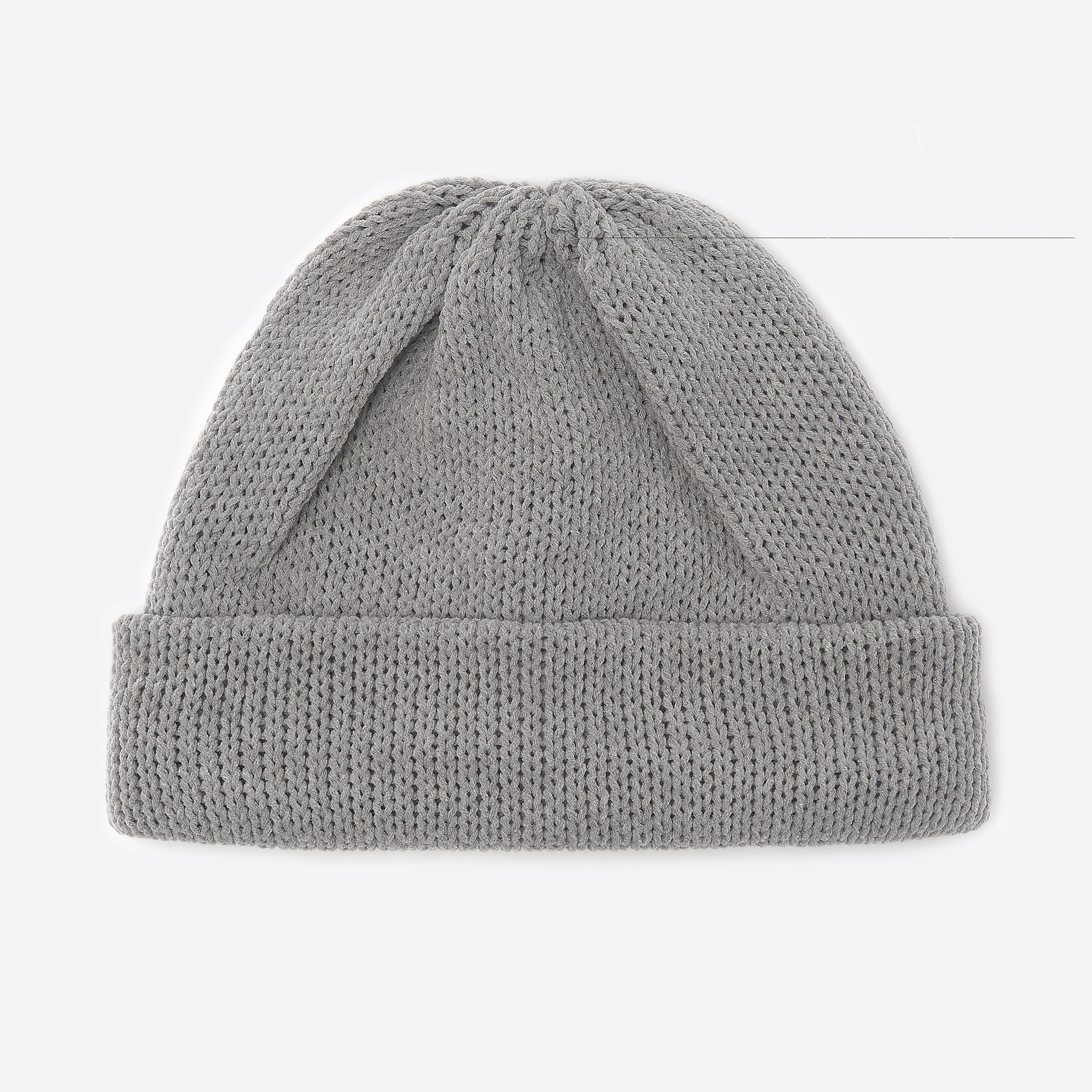 RoToTo 3 Gauge Watch Cap in Mid Grey