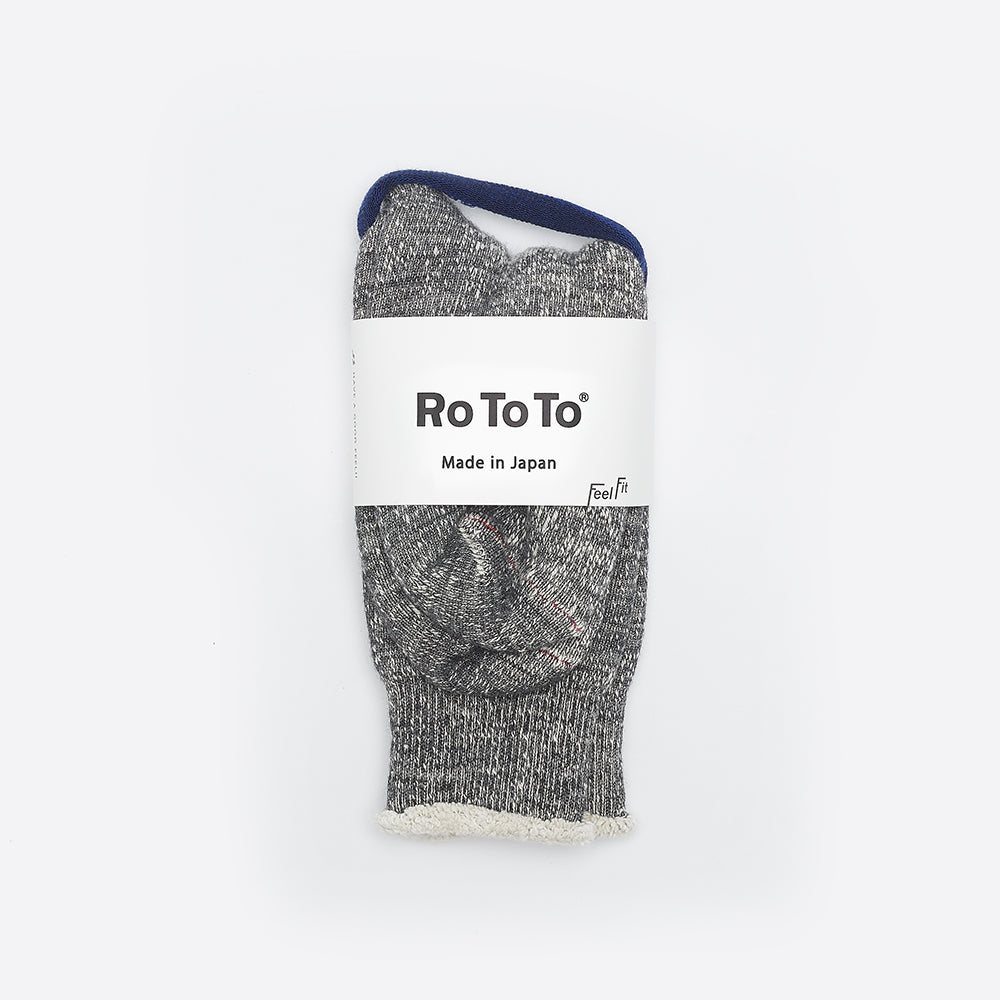 RoToTo Double Face Merino Socks Charcoal